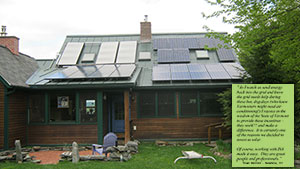 3 Solar Hot Water Panels & 7.5kW Solar Electric System is perfect for this two person home.